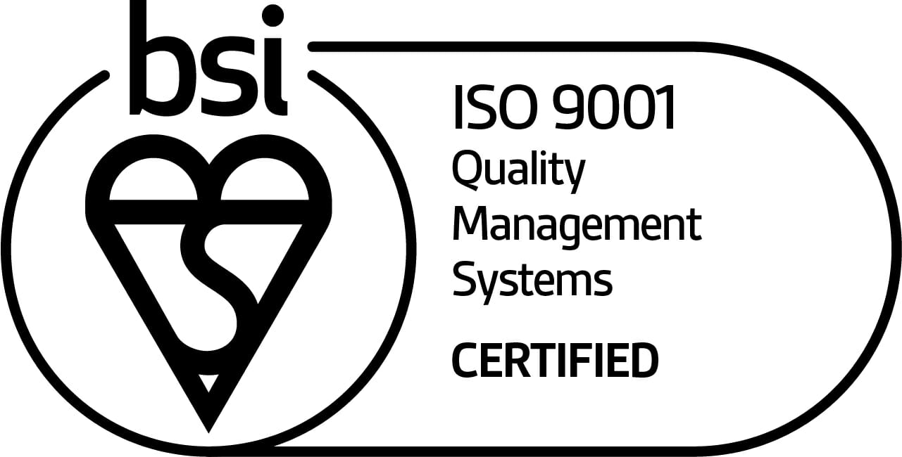 bsi ISO 9001 Quality Management Systems Certified